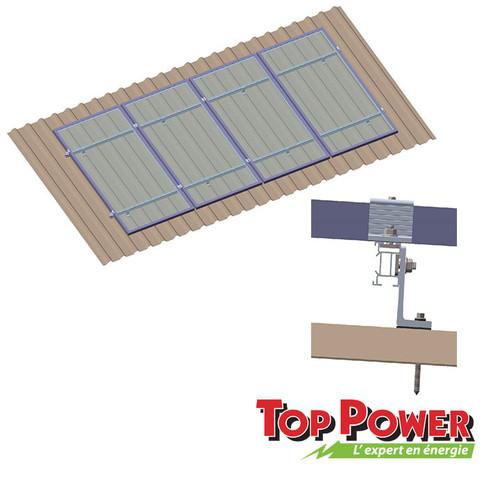 Metal/Tin Roof type  Rack - 1x4 panels