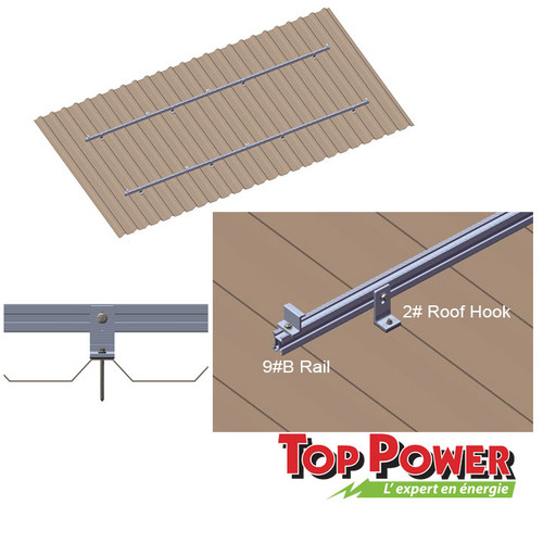 Metal/Tin Roof type  Rack- 1x4 panels