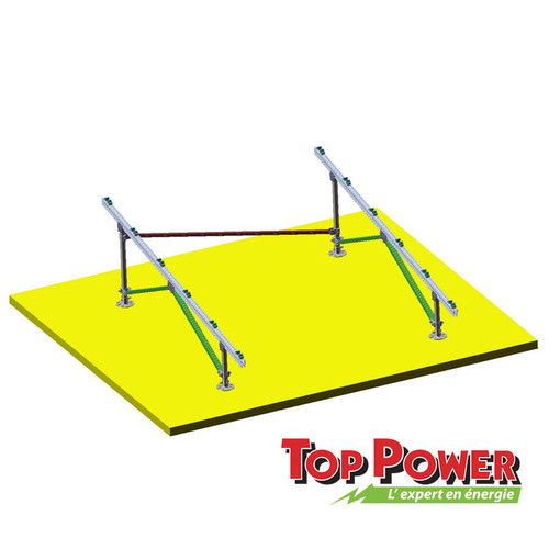 Steel Pipe Ground System Rack - 2x4 panels