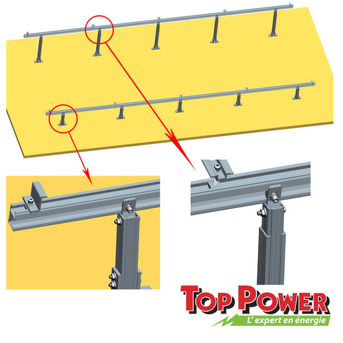 Flat Roof Type Rack 1x4 panels