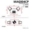 MAG004CP - Chrome Magnetic Shower Door Seal Diagram