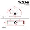 MAG029 - Magnetic Shower Door Seal Diagram