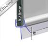 SEAL010CP - Chrome Shower Door Seal
