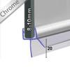 SEAL014CP - Chrome Shower Door Seal