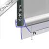 SEAL034CP - Chrome Shower Door Seal