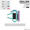 SEAL306 - Vertical Shower Door Seal Diagram