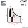 CG003 - Shower Door Seal Corner Piece Diagram