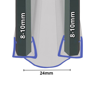 BIF092 Bifold Channel Shower Seal