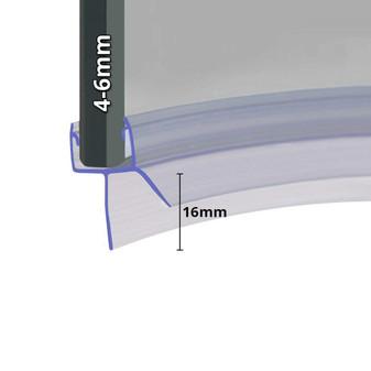 SEAL016 - Pre Curved Shower Door Seal