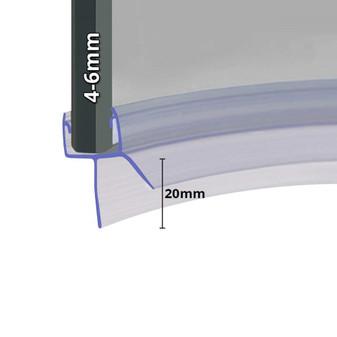 SEAL017 - Pre Curved Shower Door Seal