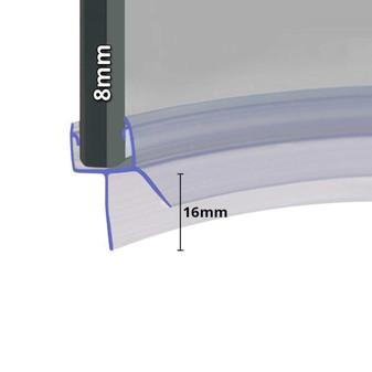 SEAL020 - Pre Curved Shower Door Seal