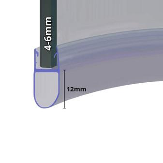 SEAL028 - Pre Curved Shower Door Seal