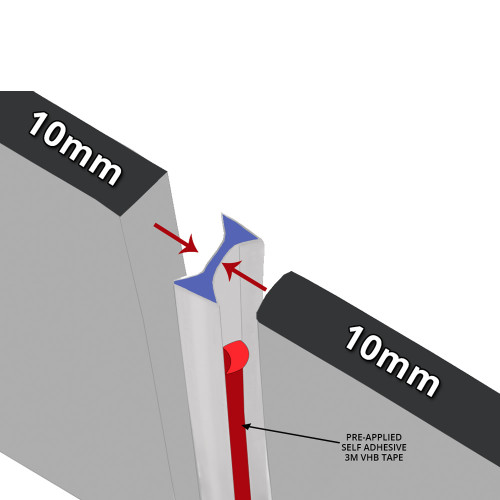 SEAL091 - Self Adhesive Vertical Shower Door Seal