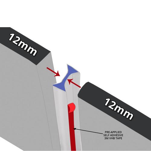 SEAL092 - Self Adhesive Vertical Shower Door Seal