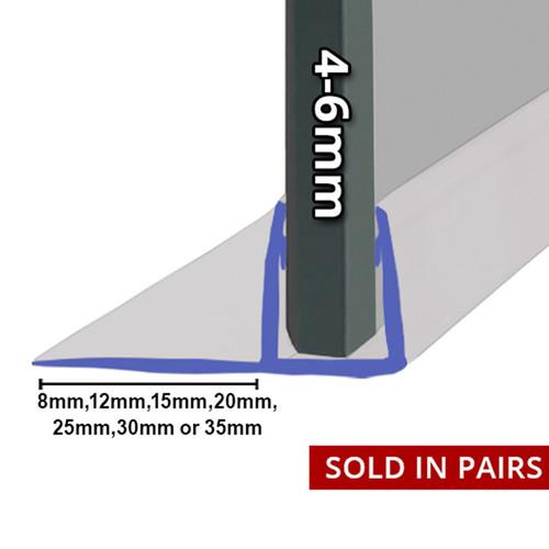 FIN001 - Vertical Fin Shower Door Seal