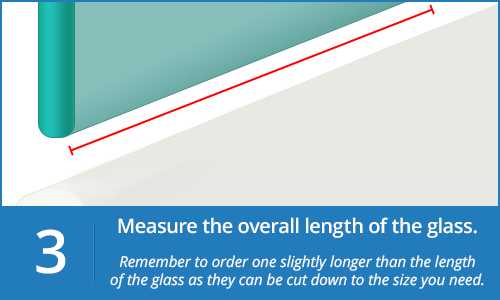 Step 3 Measure Length of your Shower Screen Seal
