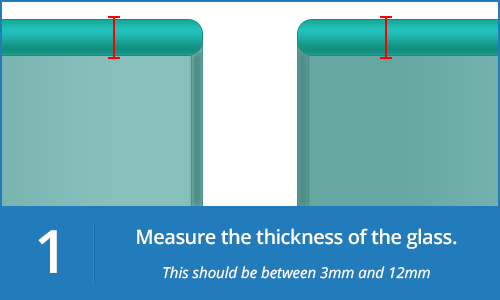 Measure the thickness of the glass