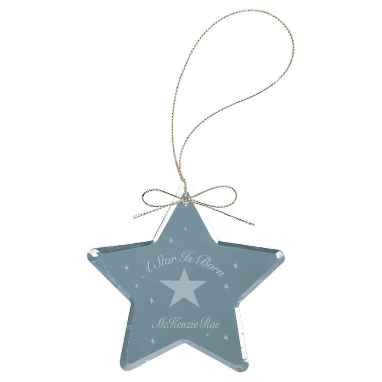 """3"""" Crystal Star Ornament"""