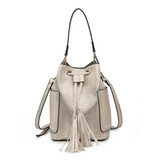 M1920 Brielle Bucket Bag w/ Drawstring Closure and 2 Side Pockets
