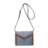 M1917 April Structured 2 Tone Straw Crossbody