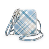 WL1948RF Kalani Wallet Crossbody Floral & Plaid Collection
