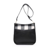 M1977 Chloe Crossbody with Plaid Accents
