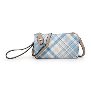 Kendall Crossbody Wristlet Floral & Plaid Collection