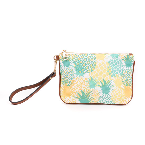 Lucy Wristlet Floral & Plaid Collection