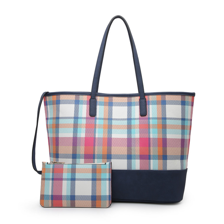 Chrissy Tote Floral & Plaid Collection