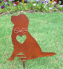 Golden Retriever Dog Metal Garden Stake - Metal Yard Art - Metal Garden Art - Pet Memorial 2
