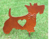 Scottish Terrier Dog Metal Garden Stake - Metal Yard Art - Metal Garden Art - Pet Memorial