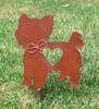 Yorkshire Terrier Dog Metal Garden Stake - Metal Yard Art - Metal Garden Art - Pet Memorial 2