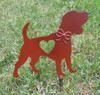 Beagle Dog Metal Garden Stake - Metal Yard Art - Metal Garden Art - Pet Memorial - Design 2