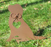 Painted Golden Retriever Dog Metal Garden Stake - Metal Yard Art - Metal Garden Art - Pet Memorial - 2