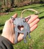 American Bulldog Dog Ornament Pet Memorial W/ Angel Wings - Pet Loss Dog Sympathy Remembrance Gift - Metal Dog Christmas Ornament