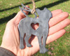 Boston Terrier Dog Ornament Pet Memorial 1 W/ Angel Wings - Pet Loss Dog Sympathy Remembrance Gift - Metal Dog Christmas Ornament