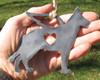 German Shepherd Dog Ornament 1 Pet Memorial W/ Angel Wings - Pet Loss Dog Sympathy Remembrance Gift - Metal Dog Christmas Ornament