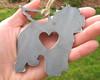 Old English Sheepdog Dog Ornament Pet Memorial W/ Angel Wings - Pet Loss Dog Sympathy Remembrance Gift - Metal Dog Christmas Ornament