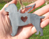 Springer Spaniel Dog Ornament 1 Pet Memorial W/ Angel Wings - Pet Loss Dog Sympathy Remembrance Gift - Metal Dog Christmas Ornament