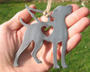 Vizsla Dog Ornament Pet Memorial W/ Angel Wings - Pet Loss Dog Sympathy Remembrance Gift - Metal Dog Christmas Ornament