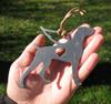 Weimaraner 3 Pet Loss Gift Ornament Angel - Pet Memorial - Dog Sympathy Remembrance Gift - Metal Dog Christmas Ornament