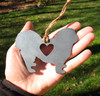 Pekingese Dog Pet Loss Gift Ornament - Pet Memorial - Dog Sympathy Remembrance Gift - Metal Dog Christmas Ornament