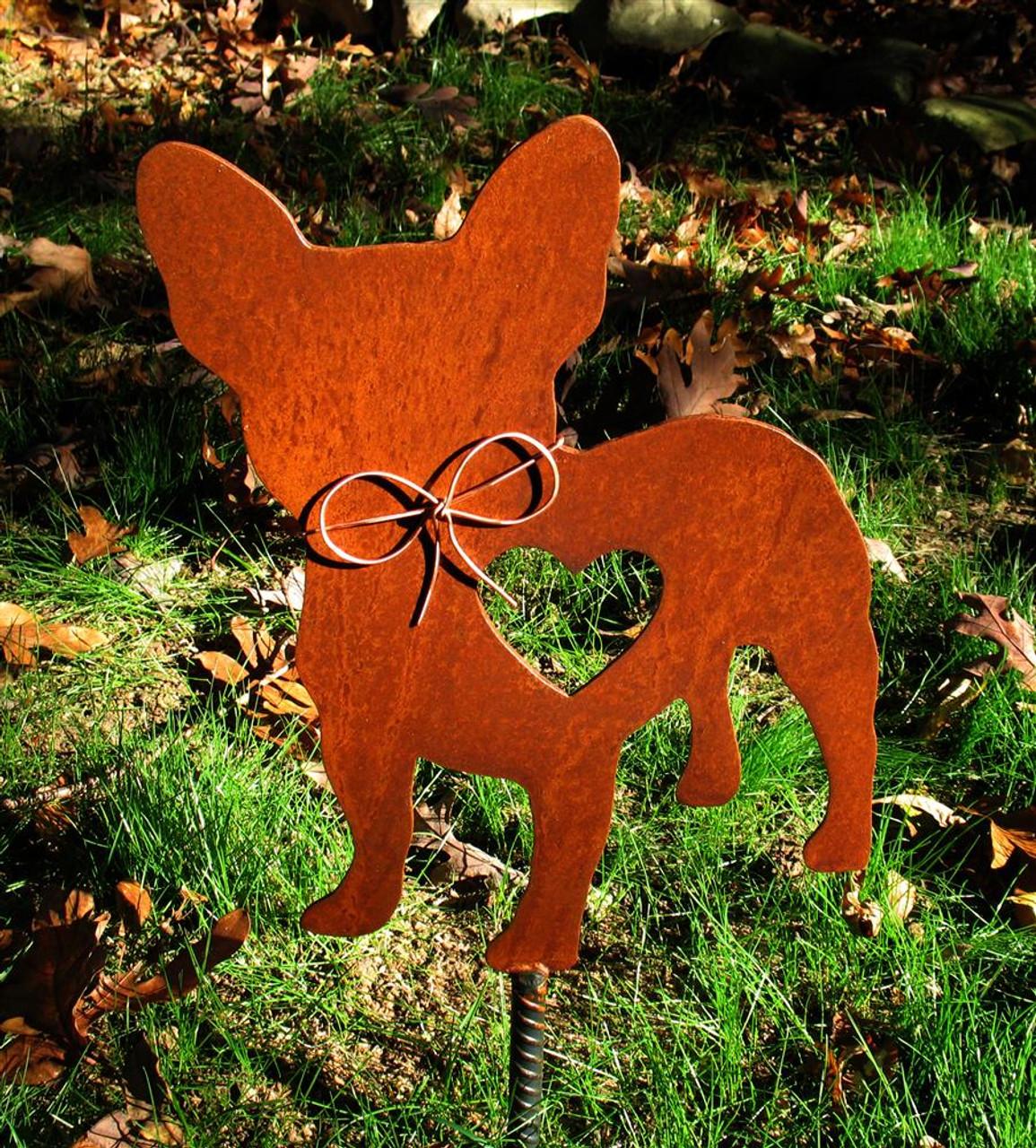 French Bulldog Dog Metal Garden Stake - Metal Yard Art - Metal Garden Art - Pet Memorial 2