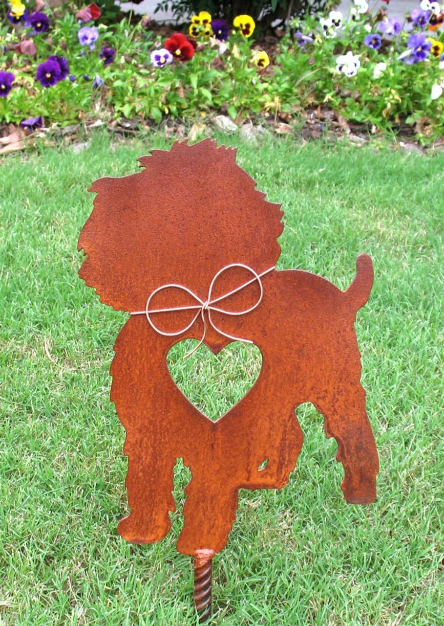 Affenpinscher Dog Metal Garden Stake - Metal Yard Art - Metal Garden Art - Pet Memorial