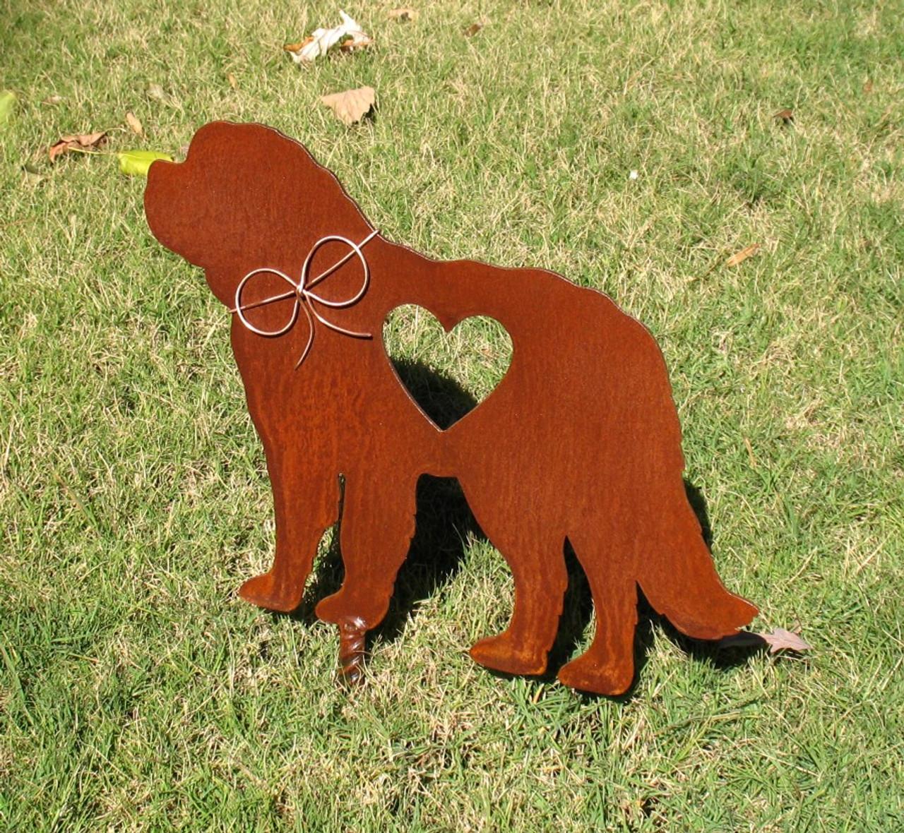 Saint Bernard - St Bernard - Dog Metal Garden Stake - Metal Yard Art - Metal Garden Art - Pet Memorial