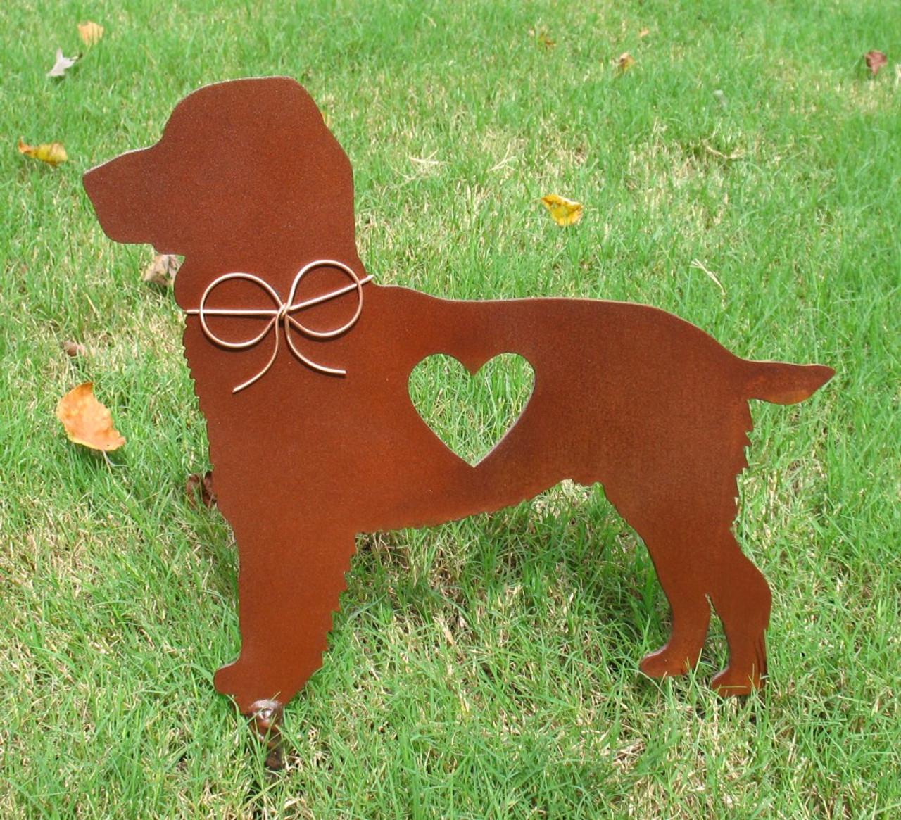 Springer Spaniel Metal Garden Stake - Yard Garden Art - Pet Memorial