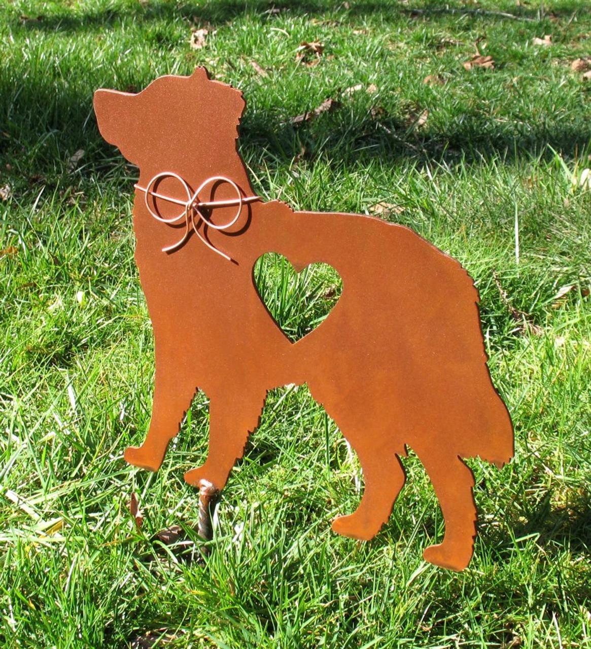 Australian Shepherd Dog Metal Garden Stake - Metal Yard Art - Metal Garden Art - Pet Memorial 2