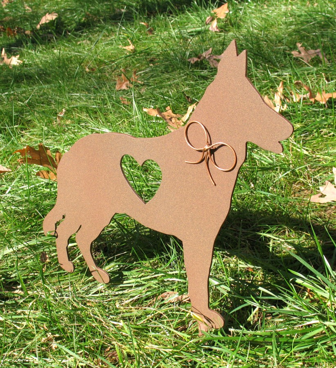 Painted German Shepherd Dog Metal Garden Stake - Metal Yard Art - Metal Garden Art - Pet Memorial - 1