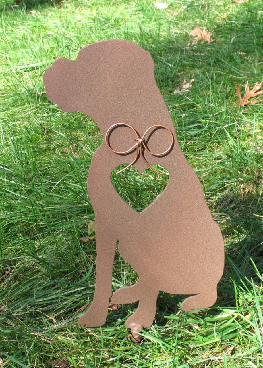 Painted Boxer Dog Metal Garden Stake - Metal Yard Art - Metal Garden Art - Pet Memorial - 4