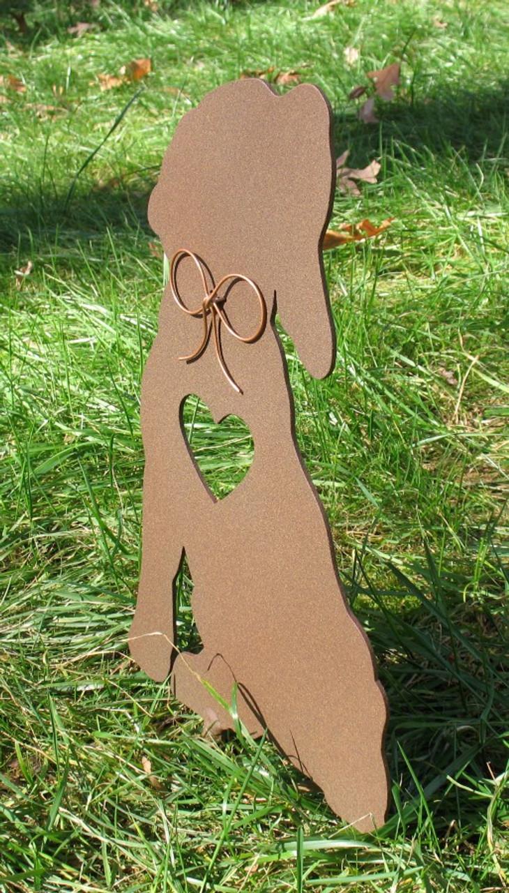 Painted Beagle Dog Metal Garden Stake - Metal Yard Art - Metal Garden Art - Pet Memorial - 1